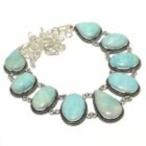 Jewelry - Natural Amazonite necklace Silver 18 inches